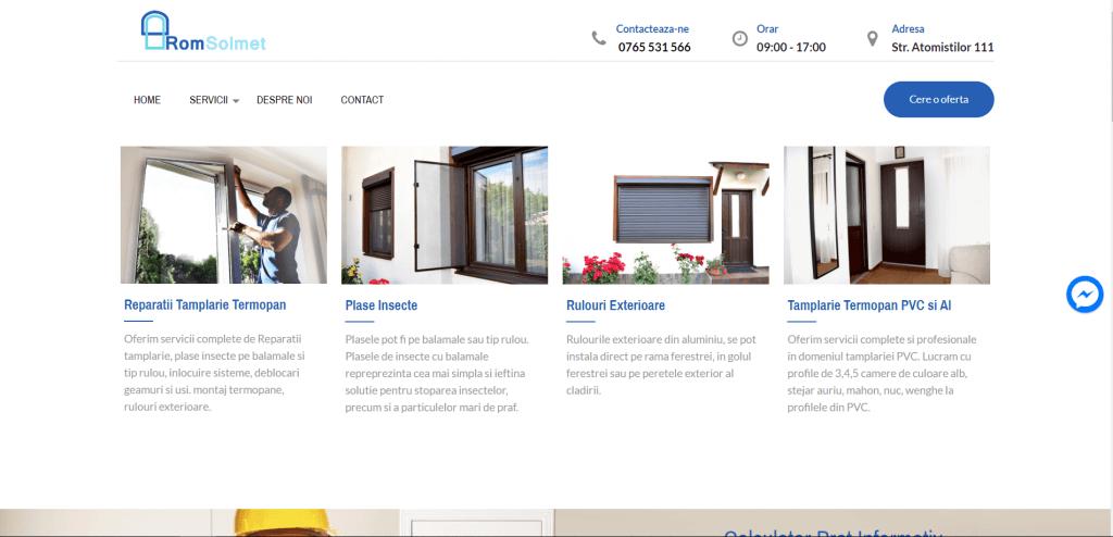 - romsolmet 1024x494 - Proiect Realizare Website Tamplarie PVC