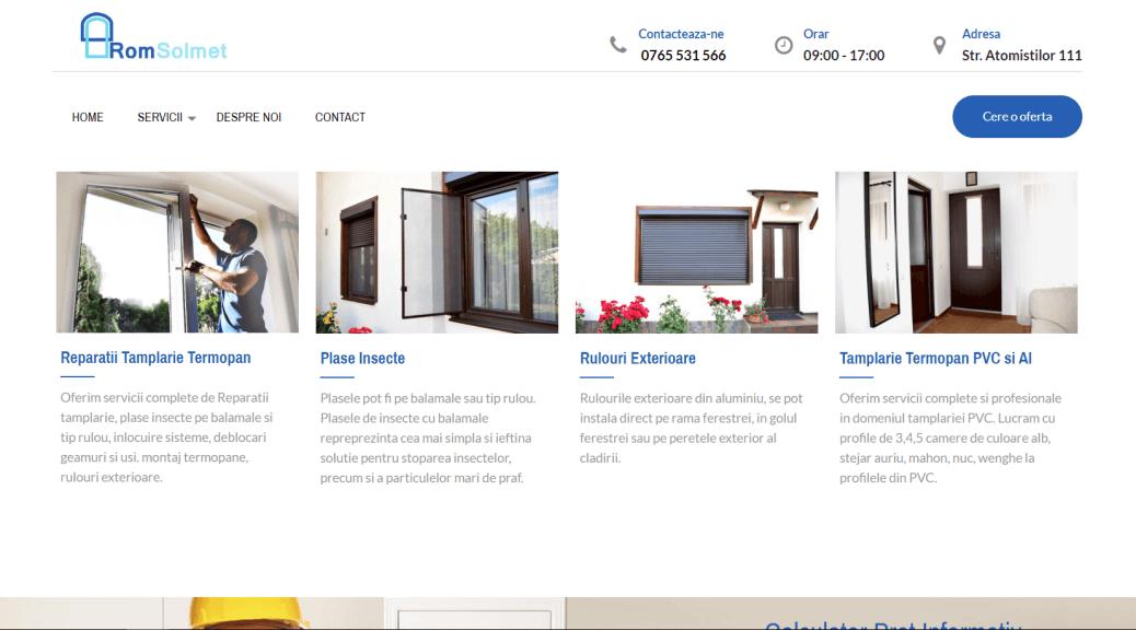 - romsolmet 1038x576 - Proiect Realizare Website Tamplarie PVC